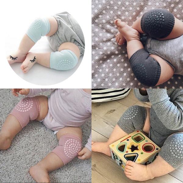 Детские наколенники Дети Anti-Slip Crawl Knee Protector Детские гетры Защитная пленка Дети Наколенники Kneepad Ползающая подушка для локтя hot A42205
