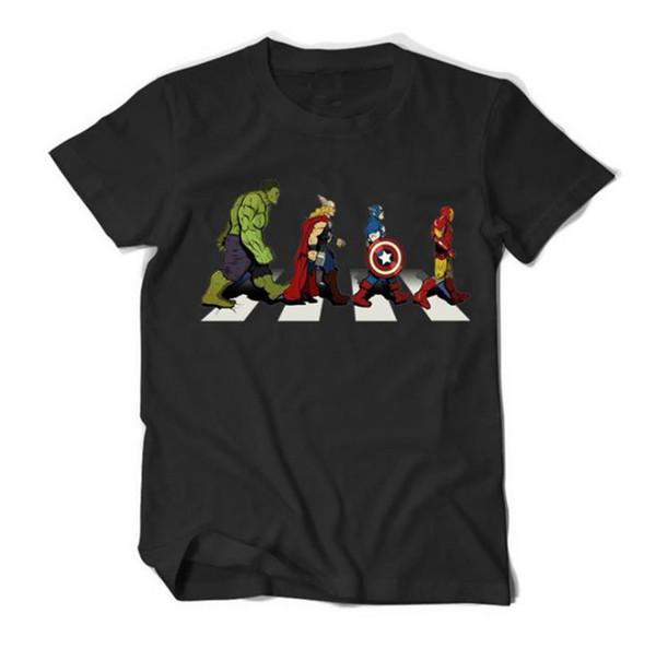 Avengers 4 Endgame Baskı Tasarımcısı Erkek Tişörtleri Marvel Comics Özel Mens Moda Yuvarlak Boyun Kısa Kollu Boy Tees Tops