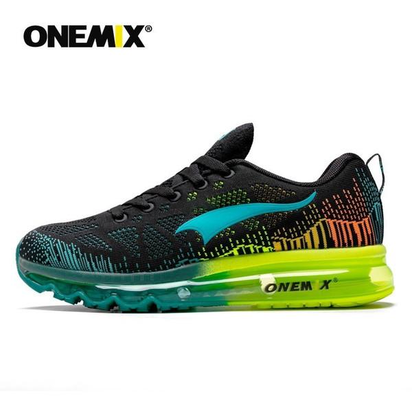 Onemix tênis esportivos masculinos ritmo da música tênis dos homens malha respirável ao ar livre sapato athletic sapato masculino luz