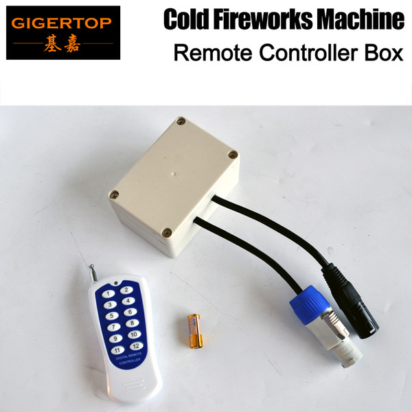 Gigertop Wireless Digital Remote Control Infraret Remote Wireless Far Distance White Controller For Cold Fireworks Machine