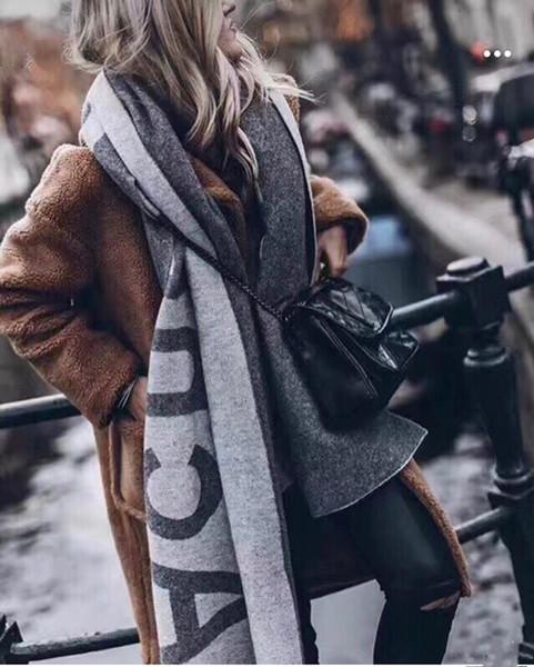 moda zarif kadın giyim lüks eşarp / akne yazmak uzun sıcak eşarp için tasarımcı eşarplar Stüdyo etiket asmak şal