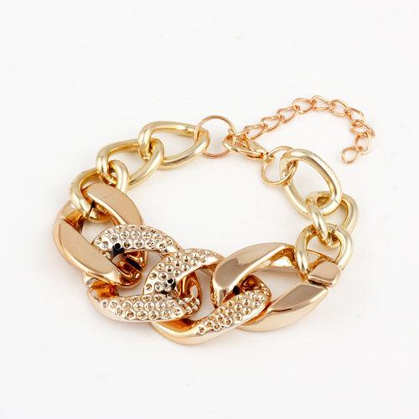 Bracelet Bangle for Women Jewelry Fashion Cheap Gold Plated Alloy Chain Chunky Bracelets & Bangles Women Charm Bracelets