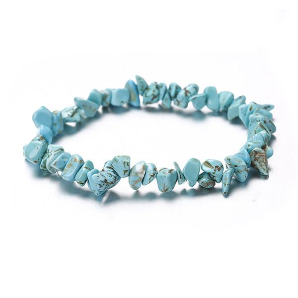 Turquoise Arbre de Vie Bracelet Pierre Bracelets Élastique Corde Wristlet Pierre Naturelle Perlée Brins Femmes Pierre Cristal Corail Bijoux
