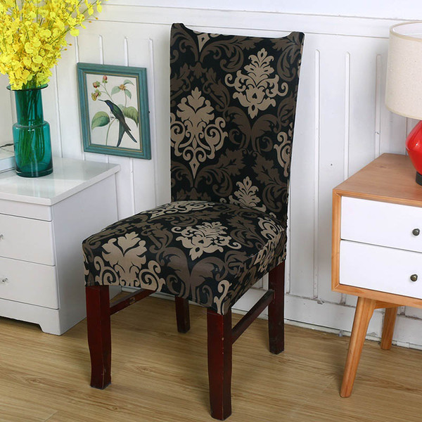 Tremendous Floral Printing Chair Covers Spandex Elastic Chair Covers Colorful Printing For Chairs For Wedding Dinner 6 Seat Covers For Kitchen Chairs Folding Caraccident5 Cool Chair Designs And Ideas Caraccident5Info