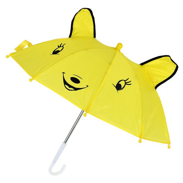 Kinderpanda-Muster Mini Yellow Umbrella Playing Toy