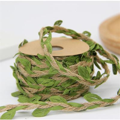 NICROLANDEE 1 Yard Artificial Plant Green Leaves Weaving Rope Wedding Birthday Rattan Gift Bouquet Party Decoration DIY