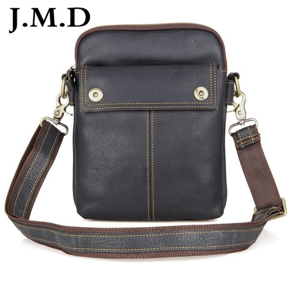 Vintage Real Leather Men's Shoulder Messenger Bag Small Sling Bag For Man Purse Handbags 1002A