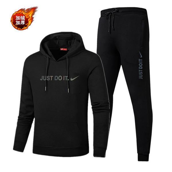 Mens di marca Donne Tute spessa velluto sportive di qualità con cappuccio da ginnastica alte Mens Training jogging Tute Pantaloni felpati + Giacche BB B103501L