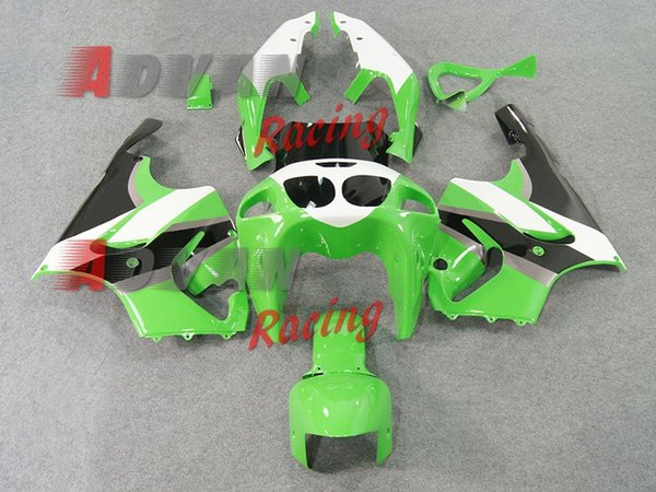 High quality New ABS motorcycle fairings fit for kawasaki Ninja ZX7R 1996-2003 ZX7R 96 97 98 99 00 01 02 03 fairing kits cool green white