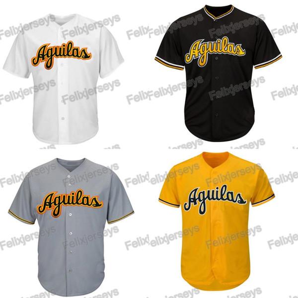 Aguilas Cibaeñas Jersey de béisbol Jerseys de película Hombres Todos los jerseys de béisbol cosidos Envío gratis blanco Color gris
