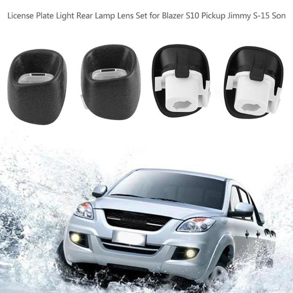 1 pair auto car license plate light rear lamp lens for chevy blazer s10 pickup for gmc jimmy s-15 sonoma olds bravada