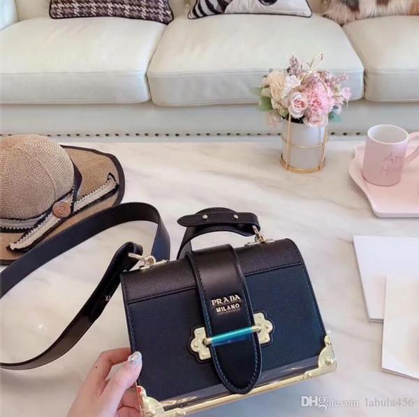Женские дизайнеры классические сумки бренда роскошь сумка оригинальный кожаный XXLпрада мешок цепи Сумка / рюкзак 01