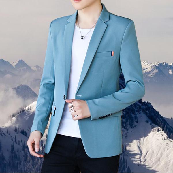 customSuit мужской досуг корейское издание красивый боди молодежный тренд малый костюм осень тонкий костюм