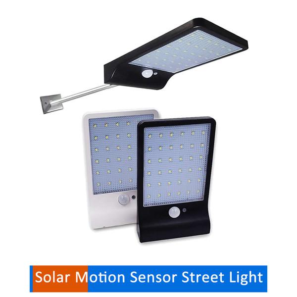 48/36 LED Solar Light PIR Motion Sensor Wall Lamp Outdoor Solar street wall path Garden Lights Waterproof Spotlight w metal pole for yard ga