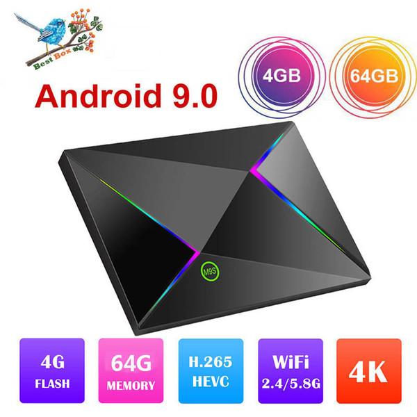 Последние M9S Z8 Android 9.0 TV Box Allwinner H6 Четырехъядерный процессор 4 ГБ Ram 64G Rom WiFi 2.4G 6K Smart Media Player лучше H96 X96 MAX S905X2