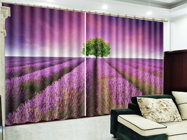 2019 3D Curtain Dreamy Pink Lavender In A Green Tree Blackout Curtain  Living Room Bedroom Beautiful Practical Blackout Curtains From Yunlin189,  ...