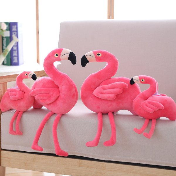 Creative Simulation Flamingo Plush Toys and Pillow Cute stuffed animals Bird Stuffed Doll Cushion Gift kids toys