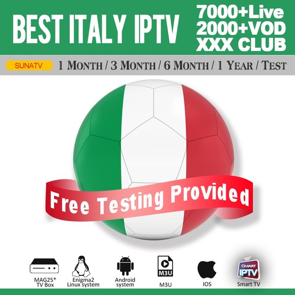 Iptv Subscription With 500+ Italy HD Live For Smart TV M3U Mag Box Android Device Free Test Abonnement Iptv With xxx Channels