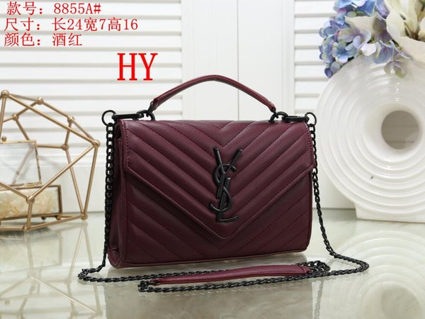 2019 Design Women's Handbag Ladies Totes Clutch Bag High Classic Shoulder Bags Fashion Leather Hand Bags Mixed order handbags B002