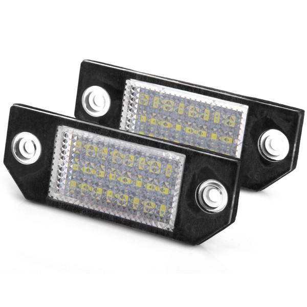 JHR032 12V 6W Weiß 24 LEDs Kennzeichenbeleuchtung für Ford Focus 2 C-Max - 2St