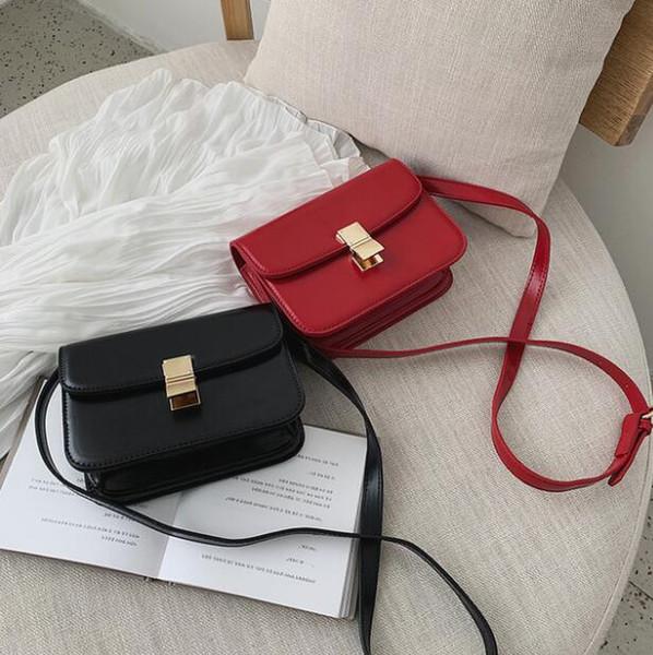 2019 neue frauen tasche super fire retro tofu tasche kleine quadratische handtasche wilde schulter Messenger bag