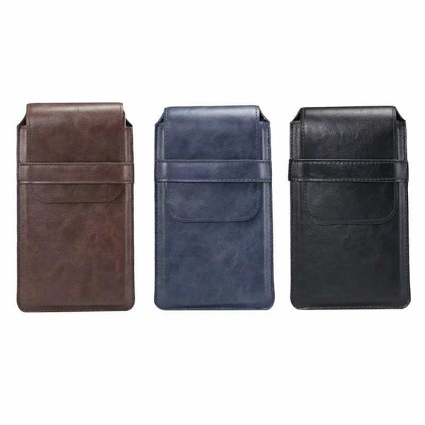 Universal Holster Hip Leather For Iphone XS MAX XR X 8 7 6 5S Galaxy S10 S8 Note 10 Vertical Hasp Hook Case Clip Belt Flip Cover Pouch Purse