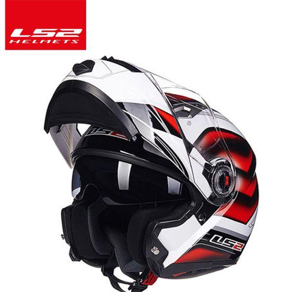 LS2 FF370 flip up motorcycle helmet dual shield with inner sunny lens modular moto racing helmets ECE certification casque moto