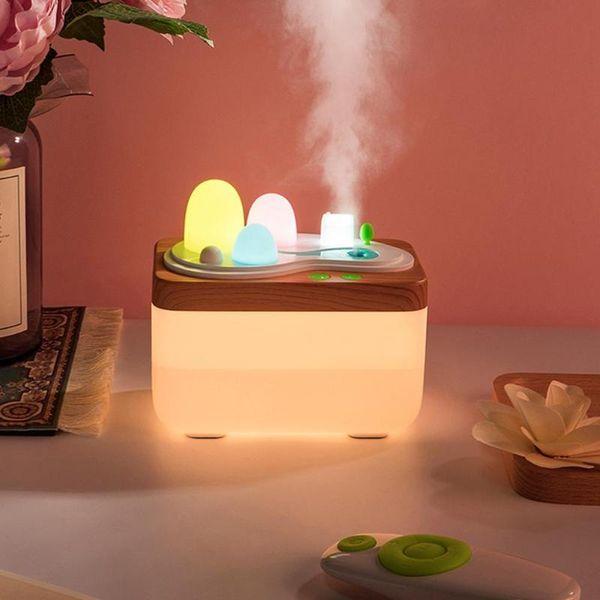 420 ML Büyük kapasiteli hava nemlendirici Esansiyel Yağı Aroma Difüzör Ofis için Uzaktan Kumanda LED Gece Işık Ev Masaüstü