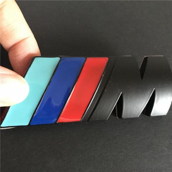 insigne noir 3D M Power pour BMW arrière emblème voiture Decal Autocollant de logo Chrome
