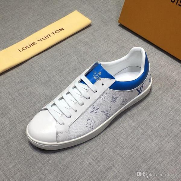 Iduzi Luxo Sneaker Cravejado Spikes homens formadores Vermelho Sapatos Inferiores de alta qualidade CINZA NOVA Marca Designer Flats 100% Couro Genuíno Para