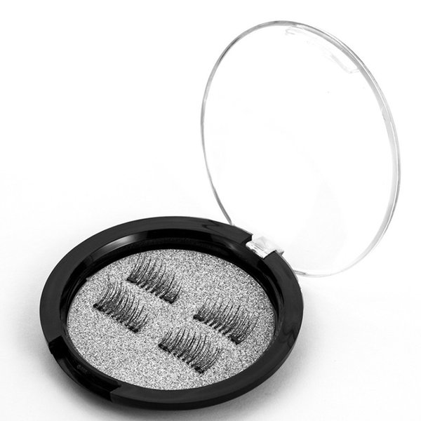 Popular 6D Magnetic Eye Lashes False Eyelashes Makeup Double Magnet Fake EyeLashes Hand Made Strip Lashes Cilios Posticos #