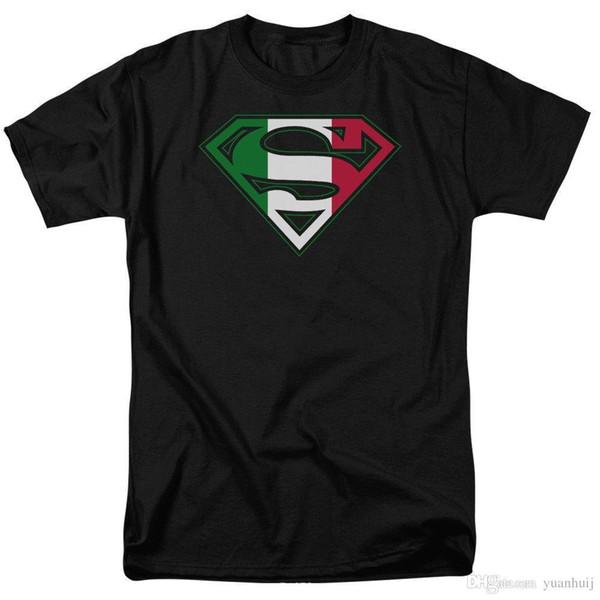 Top tee italiano escudo DC Comics licenciado adulto camiseta