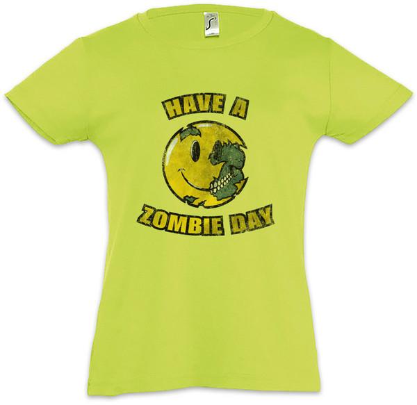HABE EINEN ZOMBIE-TAG Scherzt Mädchen-T-Shirt das gehende Zombie-tote Liebes-Lächeln-Lächeln-Mann-Frauen-Unisexmodet-shirt Freies Verschiffen