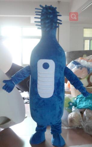 Последние высокое качество синий зубная щетка костюм талисмана для взрослых бесплатная доставка партии специальной одежды