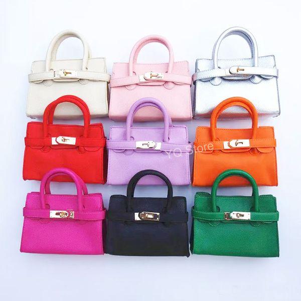 Jellyooy Baby Girls Fashion Handbags Kids Mini Totes Children's Crossbody Metal Buckle Purse Preschool Girls Coin wallets