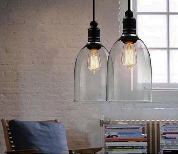 Retro Industrie DIY Deckenlampen-Licht-Glas hängende Beleuchtung Hauptdekor-Befestigungen Freie Edison-Birne E27 110V-240V