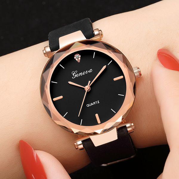 Montres de luxe pour femmes de Genève de montres pour femmes en acier inoxydable, bande de silice, montres analogiques à quartz, montres-bracelets kadn saat