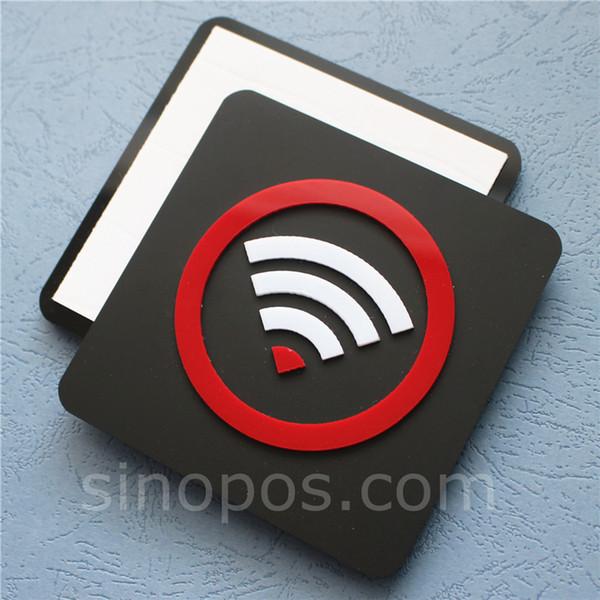 Adesivo acrilico Wifi zona adesiva, adesivo Wi-Fi 3D disponibile per segnaletica porta vetrina adesivo wireless gratuito per hotspot in internet