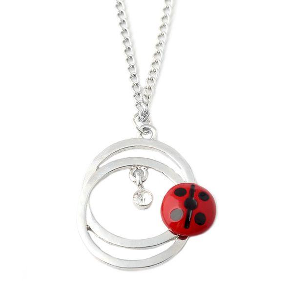 Movie Jewelry Miraculous Ladybug Couple Round Necklace Enamel Pendant Cute Cartoon Fashion Jewelry