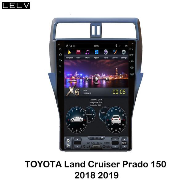 lelv Тесла стиль DVD-плеер автомобиля для LandCruiser Prado 150 2018 19 вертикальный экран 16-дюймовый головной блок радио мультимедиа играть