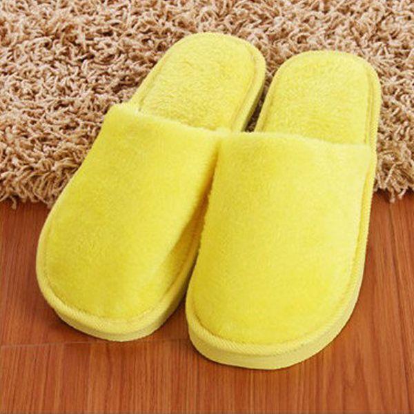 Dropship Мягкий Плюшевый Хлопок Симпатичные Тапочки Обувь Нескользящий Пол Крытый Дом Домашние Пушистые Тапочки Женщины Мужчины Обувь Для Спальни # 1210
