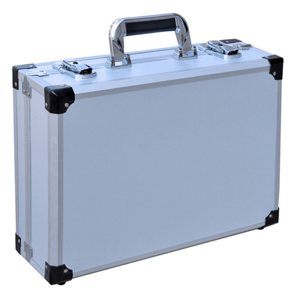 Multi functional reinforced aluminum alloy ABS travel suitcase bag portable toolbox Instrument storage business box leisure b luggage bags