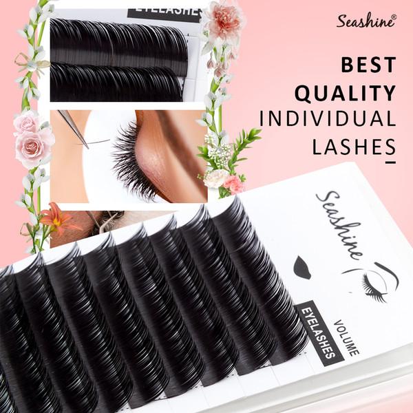 4bd101594fb Seashine New Material Soft Classic Individual Eyelash Extensions Any Curl Korean  PBT Russian Volume Eyelash Extension