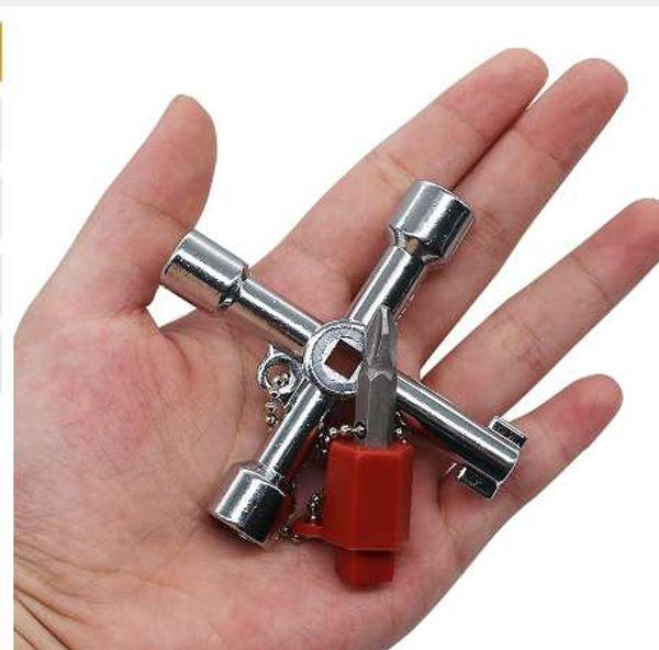 Plombiers Multi-outils 4 voies Gaz Compteur électrique Boîte Radiateur Plomberie Outils Plombiers Utilitaires Clés à gaz Nouveau