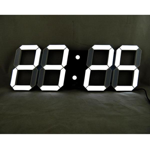 Acheter Horloges Murales 3D LED Digital 24 Heures De Luminosité D\'affichage  Fonction De Répétition De Veilleuse Dimmable Pour Le Bureau De Cuisine À ...
