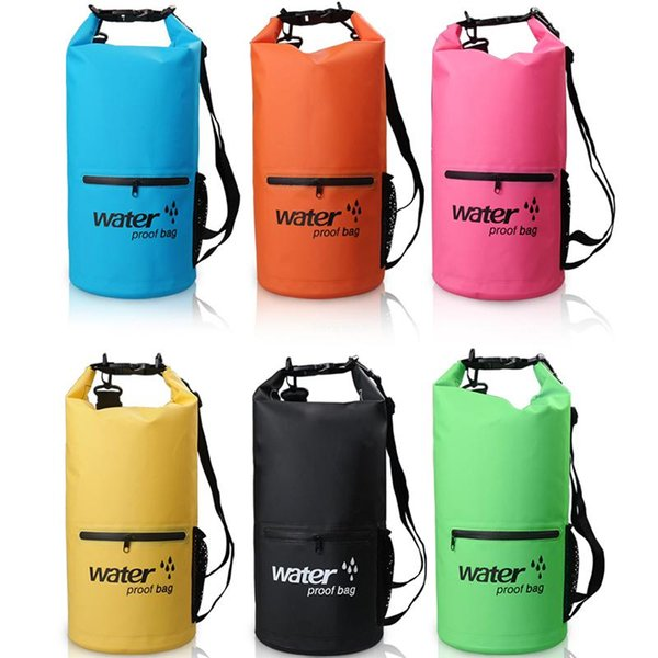 10L Outdoor Waterproof Bag For Boating Kayaking PVC Waterproof Dry Bag Lightweight Storage Backpack Camping Hiking Swimming Free DHL M234Y
