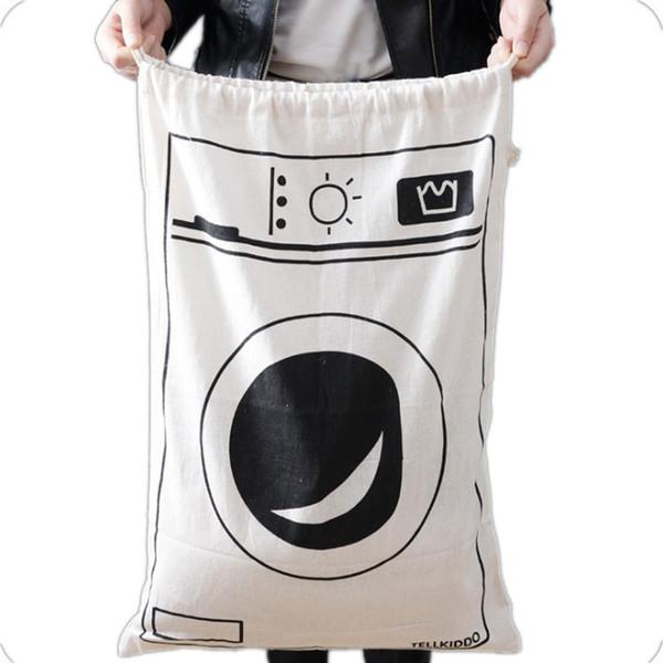 Saklama Çantası Seyahat İpli Çanta Çamaşır Giydirin Oyuncak Organizatör 60 * 50 cm Ev Kullanımı Için Bebek Oyuncakları Çanta Kese LJJK1768