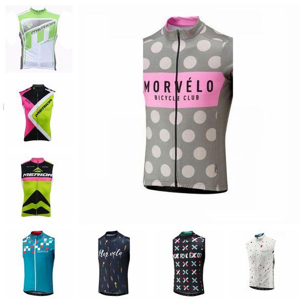 Nuevo 2019 MERIDA Morvelo Ciclismo Jersey Ropa de bicicleta Ropa Ciclismo racing Camisas de bicicleta Ropa de montar Hombres sin mangas chaleco SportsWear K052305