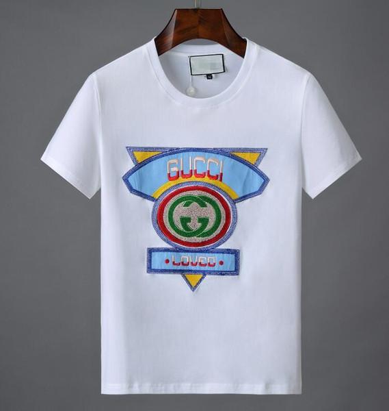 19ss disegni all'ingrosso logo 3D stampa T-SHIRT Camicie uomo Italia maglietta uomo donna T-shirt a maniche corte Top shorts Tee g20 abbigliamento Hip Hop
