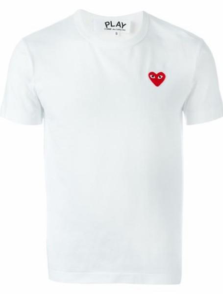 mens luxurybrand t-shirt 100% cotton breathable t-shirt v2cdg plays designers letter printing round collar tshirt